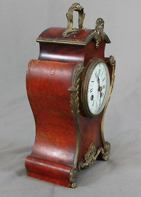 19th 20th Century French Boulle Mantle Clock c1900 2