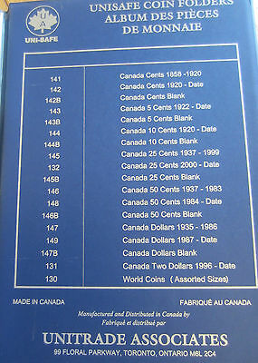 Complete Set of Canada Half Dollars Coins (1968-2013) In UNI-Safe Blue Book 8