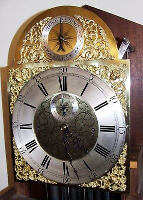 Antique Musical Tube Quarter Chiming Mahogany Longcase Grandfather Clock WORKING 6