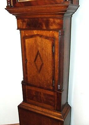 ~ Antique Oak & Mahogany Inlaid Grandfather Longcase Clock : WOOD KNUTSFORD 5