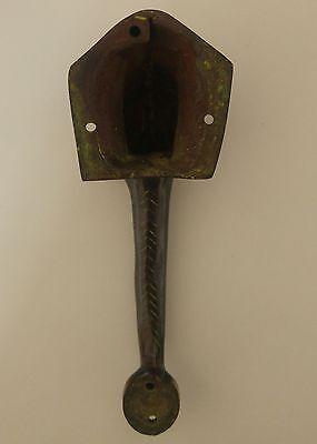 """Elephant Head Figurine Brass Door Handle 5.9"""" - Nepal"""