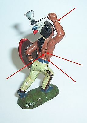 Alter Lineol Masse Indianer mit Tomahawk um 1930 !