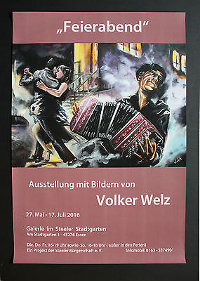Volker Welz Künstler Flyer Kunstausstellung Kunst Essen Steele im Stadtgarten AK 5