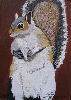 "A869    Original Acrylic Aceo Painting By Ljh    ""Pete Rabbit""  One-Of A-Kind 10"