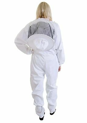 [UK] Buzz Work Wear Beekeepers White Beekeeping Suit with Round Veil - All sizes