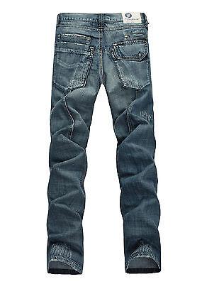 FOX JEANS Men/'s Webster Regular Fit  Straight Blue Denim Jeans SIZE 30-42