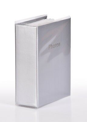 6'' x 4'' Slipin Photo Album Holds 120 Photos Photography Storage - SILVER