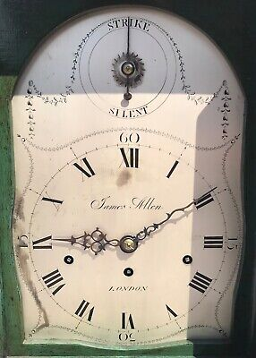 Antique Chinoiserie Green Laquered Triple Fusee Bracket Clock Chiming On 8 Bells 10