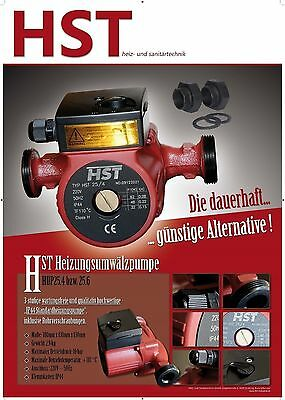 HST Heizungspumpe / Umwälzpumpe HST 25/4 (25/6 , 32/4 , 32/6 , 25/8 , 32/8) -180