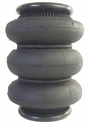 "two triple bellow 2600 air bag 1/2""npt single port ride springs bags suspension"