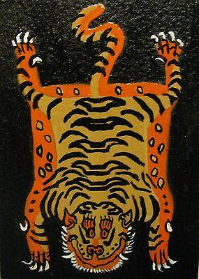 "C80   Original Acrylic Painting By Ljh   ""Bear""    Cat   Kitten 8"