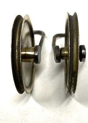 ## Pair Of Antique Grandfather/ Longcase Clock Pulleys 3