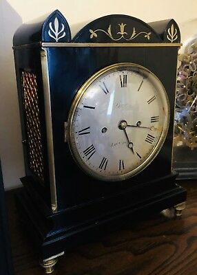 Twin Fusee London English Barwise antique bracket clock Twin Fusee Scarce 2
