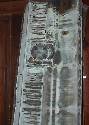 Vintage Copper Architectural Ornate Building Facia From 100 Year Old Hospital 4