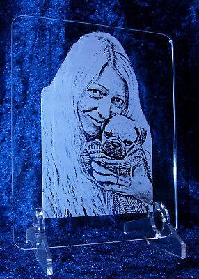 Valentinstag Foto auf Rechteck Acrylglas Plexiglas Fotogravur Liebesgeschenk