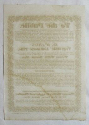 Antique 1834 BROADSIDE Medical Apothecary DR WARD'S VEGETABLE ASTHMATIC PILLS 3
