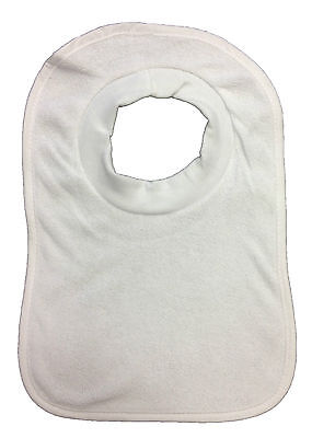 """Baby Bibs """"pack Of 7"""" Tiny Ted White Terry Pop Over Bnwt"""