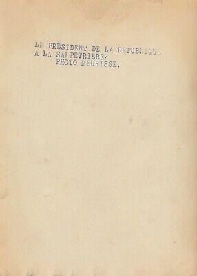 Le Président Albert Lebrun à la Salpetrière  photo Meurisse circa 1933 2