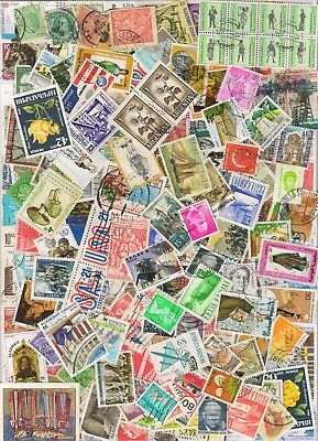 1000s ALL DIFFERENT OLD WORLD Stamps Collection Off Paper in Lot Packs of 150+ 4
