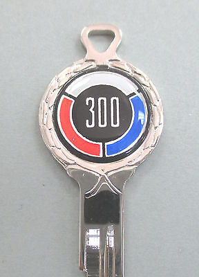 1970 CHRYSLER 300 Rare White Gold Deluxe Classic 3 pc Muscle Car Key Set