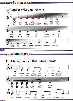 Keyboard Weihnachtslieder Anfänger.Melodica Keyboard Noten Meine Bunten Noten Kinderlieder 2 Anfänger Farben