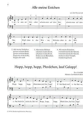 einfach für Anfänger leicht gesetzt 35 Kinderlieder für Klavier Noten