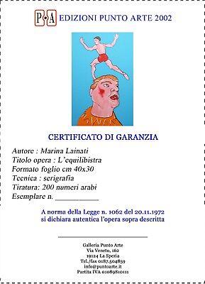 """MARINA LAINATI - """"L'equilibrista""""  - Serigrafia cm 40x30 4"""
