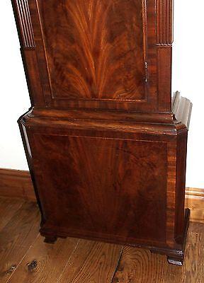 Antique Mahogany Halifax Moon Longcase Grandfather Clock by Butler BOLTON 10