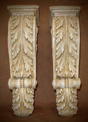 Antique Finish Shelf Acanthus leaf Wall Corbel Sconce Bracket Home Decor Pair 5
