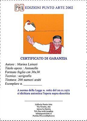 """MARINA LAINATI - """"Antonello""""  - Serigrafia cm 30x30 4"""