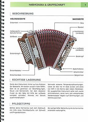 Steirische Harmonika Schule Michlbauer Methode 4 Lehrbuch mit CD Griffschrift
