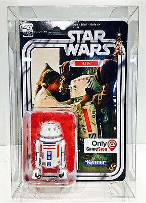 1 Clear Protector For R5-D4 ONLY!  STAR WARS 40TH Anniversary Display Case Box 3