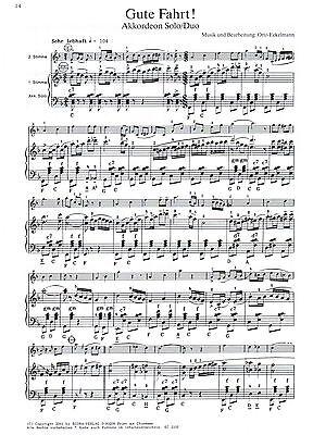 ad. lib. Akkordeon Noten : Bunt gemischt 19 mittelschwer mit  2 Stimme ECORA