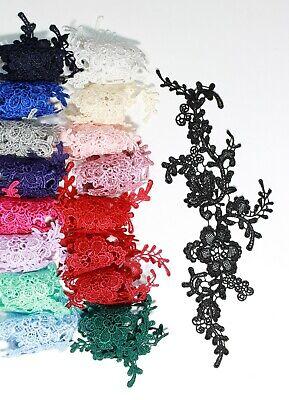 2 x Floral lace Applique / decorative sewing lace motifs 11 different colours #1 2