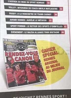 Rennes (Stade Rennais) V Arsenal 7:3/19. Europa League Programme & Sport Journal 6
