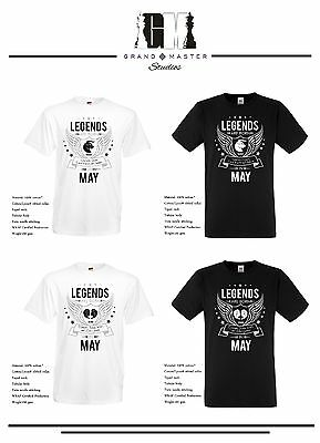 684dbc0fd ... Legends Are Born In Your Birth Month & Matching Zodiac Sign Unisex T- Shirts 5