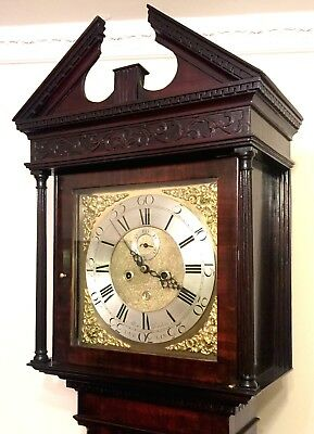 Antique 8 Day Georgian Inlaid Mahogany Longcase Clock ALEX GORDON DUBLIN 3