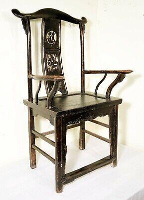 Antique Chinese High Back Arm Chairs (5755) (Pair), Circa 1800-1849 8