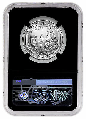 2019 D Apollo 11 50th Commem Clad Half Dollar NGC MS70 ER Black Core SKU57112 2