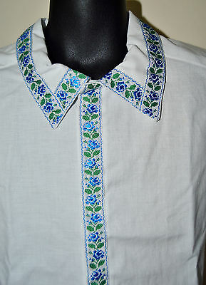 NEW Hand Made Vyshyvanka Traditional White formal Shirt for boy 3-4 years old 2