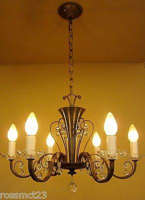 Vintage Lighting circa 1950 Mid Century quality chandelier 2