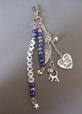Pet Loss/In Memory memorial loss of cat, key/bag charm, personalised free