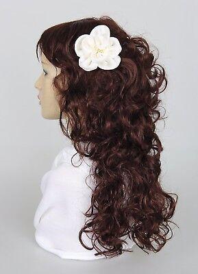 Haarblume SATIN KLEIN 20 Farben Haarblüte Ansteckblume Stoffblume Haarspange 4