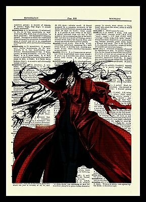 Hellsing Alucard Anime Dictionary Art Print Poster Picture Book Japan Ultimate