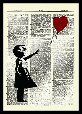 Banksy Girl With a Balloon Dictionary Art Print Picture Poster Nursery Child 3