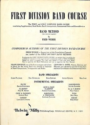 Drums Belwin Mills First Division Band Method Part One and Two Music Book 3