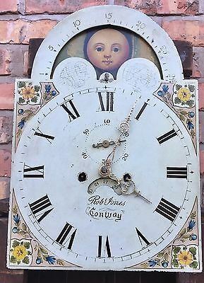 Oak And Mahogany Cross Banded Longcase /grandfather Clock With Rolling Moon 7
