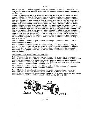 Unimat DB200 /& SL1000 Universal Machine Tool Operating Instructions Manual #1235