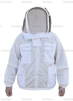 Three Layers Mesh Ultra Beekeeping Jacket Bee Jacket Ventilated Cool Air X-Large