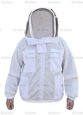 Three Layers Mesh Ultra Beekeeping Jacket Bee Jacket Ventilated Cool Air Xxl